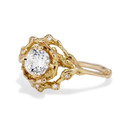 Unique diamond twig engagement ring by Olivia Ewing Jewelry