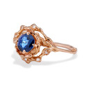Diamond and sapphire engagement ring by Olivia Ewing Jewelry