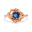 Naples Sapphire Halo Ring by Olivia Ewing Jewelry