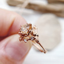 Unique morganite engagement ring by Olivia Ewing Jewelry