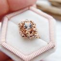 Morganite diamond engagement ring by Olivia Ewing Jewelry