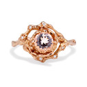 Naples Morganite Halo Ring by Olivia Ewing Jewelry