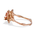 Morganite and diamond engagement ring  by Olivia Ewing Jewelry