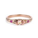 Calais Morganite Bezel Ring by Olivia Ewing Jewelry