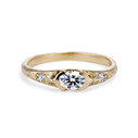 Calais Diamond Bezel Ring by Olivia Ewing Jewelry
