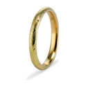Textured gold wedding band by Olivia Ewing Jewelry