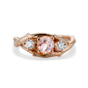 Unity Morganite and Diamond Three Stone Ring by Olivia Ewing Jewelry