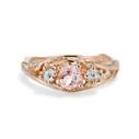 Knox Morganite Three Stone Ring by Olivia Ewing Jewelry