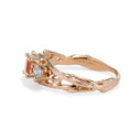 Rose gold morganite engagement ring by Olivia Ewing Jewelry