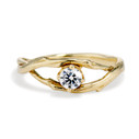 Unity Diamond Solitaire Ring by Olivia Ewing Jewelry