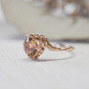 Engagement rings unique with tourmaline by Olivia Ewing Jewelry