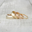 Squared wedding band by Olivia Ewing Jewelry