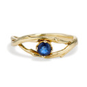 Unity Sapphire Solitaire Ring by Olivia Ewing Jewelry