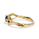 Sapphire twig engagement ring by Olivia Ewing Jewelry