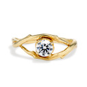 Large Unity Diamond Solitaire Ring by Olivia Ewing Jewelry