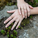 Entwined twig engagement ring by Olivia Ewing Jewelry