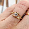 Ethereal diamond engagement ring by Olivia Ewing Jewelry