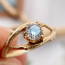 Tree branch engagement ring by Olivia Ewing Jewelry