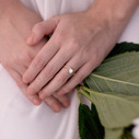 Boho engagement ring for nature lover by Olivia Ewing Jewelry