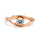 Large Unity Moissanite Solitaire Ring by Olivia Ewing Jewelry