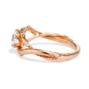 Diamond alternative white stone engagement ring by Olivia Ewing Jewelry
