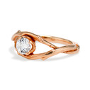 Nature inspired engagement ring with Moissanite by Olivia Ewing Jewelry