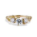 Grace Diamond Three Stone Ring by Olivia Ewing Jewelry