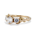 Diamond nature engagement ring by Olivia Ewing Jewelry
