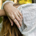 Unique nature inspired engagement ring by Olivia Ewing Jewelry