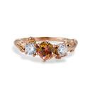 Grace Tourmaline and Diamond Three Stone Ring by Olivia Ewing Jewelry