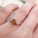 Tourmaline and diamond engagement ring by Olivia Ewing Jewelry