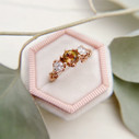 Twig and leaf engagement ring by Olivia Ewing Jewelry