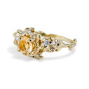 Rutilated gold quartz engagement ring by Olivia Ewing Jewelry