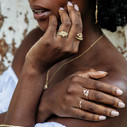 Rutilated quartz ring by Olivia Ewing Jewelry