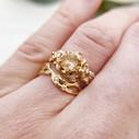 Quartz ring with diamond by Olivia Ewing Jewelry