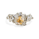 14K white gold quartz engagement ring by Olivia Ewing Jewelry