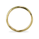 Handcrafted gold wedding band by Olivia Ewing Jewelry