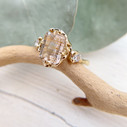 Unique engagement ring with diamond by Olivia Ewing Jewelry