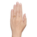 Gold Quartz engagement ring by Olivia Ewing Jewelry