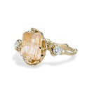 Naples Rutilated Quartz Trio Ring by Olivia Ewing Jewelry