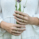 Nature inspired grey diamond engagement ring by Olivia Ewing Jewelry