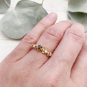 Earthy grey diamond engagement ring by Olivia Ewing Jewelry