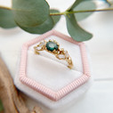 Oval green sapphire ring by Olivia Ewing Jewelry