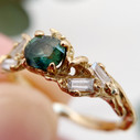 Oval sapphire ring by Olivia Ewing Jewelry