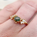 Green sapphire ring by Olivia Ewing Jewelry