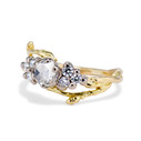Diamond cluster engagement ring by Olivia Ewing Jewelry
