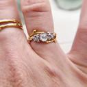Low profile rose cut diamond ring by Olivia Ewing Jewelry