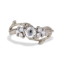 14K white gold unique diamond cluster ring by Olivia Ewing Jewelry