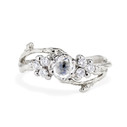 Platinum seven diamond unique engagement ring by Olivia Ewing Jewelry