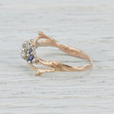 Unique rose cut diamond engagement ring by Olivia Ewing Jewelry